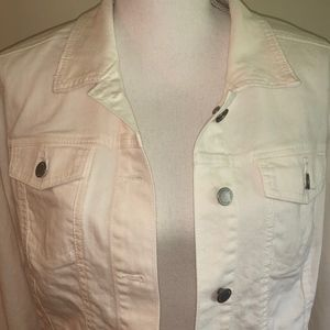 Universal Thread White Denim Jacket Size L NWT